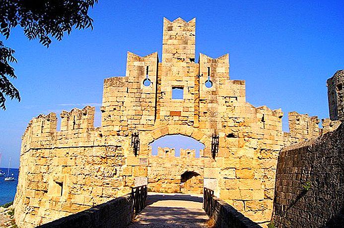 Rhodes Sights Tempat Wisata Sejarah Kuno Monumen dan Situs Arkeologi di Rhodes